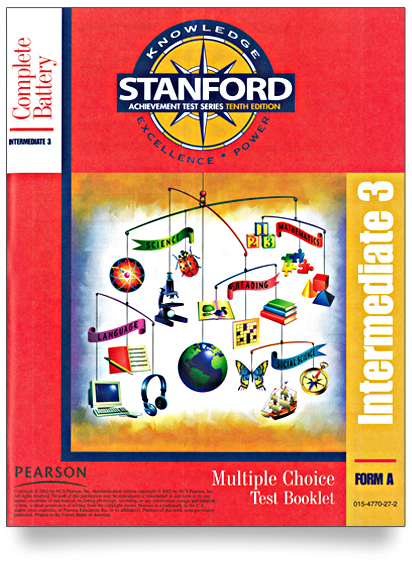 Stanford Multiple Choice Test Booklet