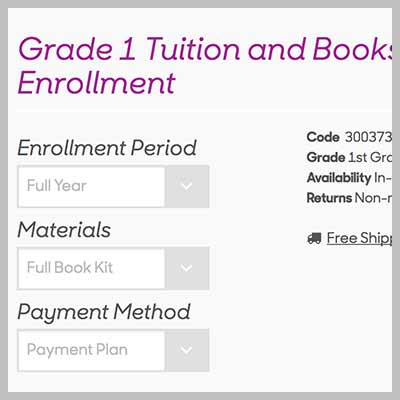 Simplified Enrollment Purchase