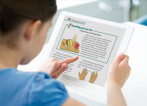 Girl using Digital Textbook on iPad