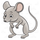 Gray Mouse standing