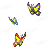 Three Butterflies