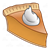 Pumpkin Pie Slice Color PNG