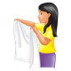Helpful Girl holding a towel