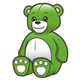 Stuffed Bear green