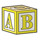 Yellow Block with ABC