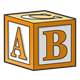 Orange Block with ABC