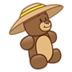 Teddy Bear with a tan hat