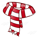 Abeka | Clip Art | Scarf—with red and white stripes