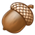 Brown Acorn 1 Color PNG