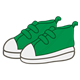 Tennis Shoes green with white soles