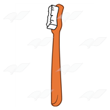 Orange Toothbrush