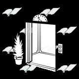 Abeka | Clip Art | Elevator—with an open door