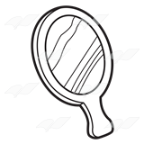 mirror clipart black and white. hand mirror clipart black and white