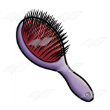 Purple Hairbrush