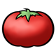 Red Tomato with a green stem