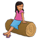 Girl on Log