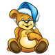Teddy Bear wearing a blue hat