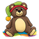 Bedtime Bear with a green hat