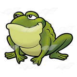 Smirking Green Toad
