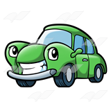 Green Cartoon Car