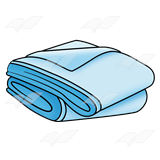 Abeka | Clip Art | Blue Blanket—folded
