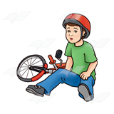 Boy beside Bike