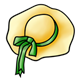 Yellow Hat with green ribbon