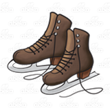 Brown Ice Skates