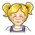 Crying Girl Color PNG