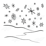 Snowflakes and Snow