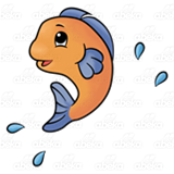 Jumping Orange Fish