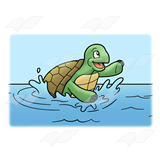 Splashing Turtle