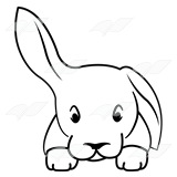 Gray Rabbit Head