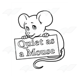 Mouse Holding Sign