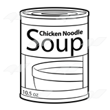 Abeka | Clip Art | Soup Can—chicken noodle