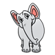 Gray Elephant with head tipped