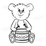 Bear Playing Drum