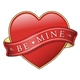 Red Heart with Be Mine