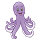 Grinning Octopus purple