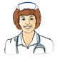 Nurse with a white cap