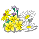 Various Flowers with daffodils and daisies