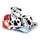 Dalmatians Reading with red pillows