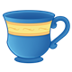 Blue Teacup with a yellow stripe
