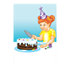 Girl cutting a birthday cake