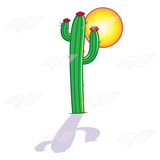 Cactus with Sun