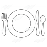 Abeka | Clip Art | Table Setting—with yellow plate