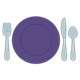 Table Setting with purple plate