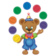 Button Bear juggling balls