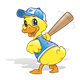 Baseball Duck with bat