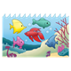 Ocean Scene with fish and coral reef